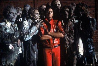 Thriller: Michael Jackson in un'immagine del videoclip di Landis