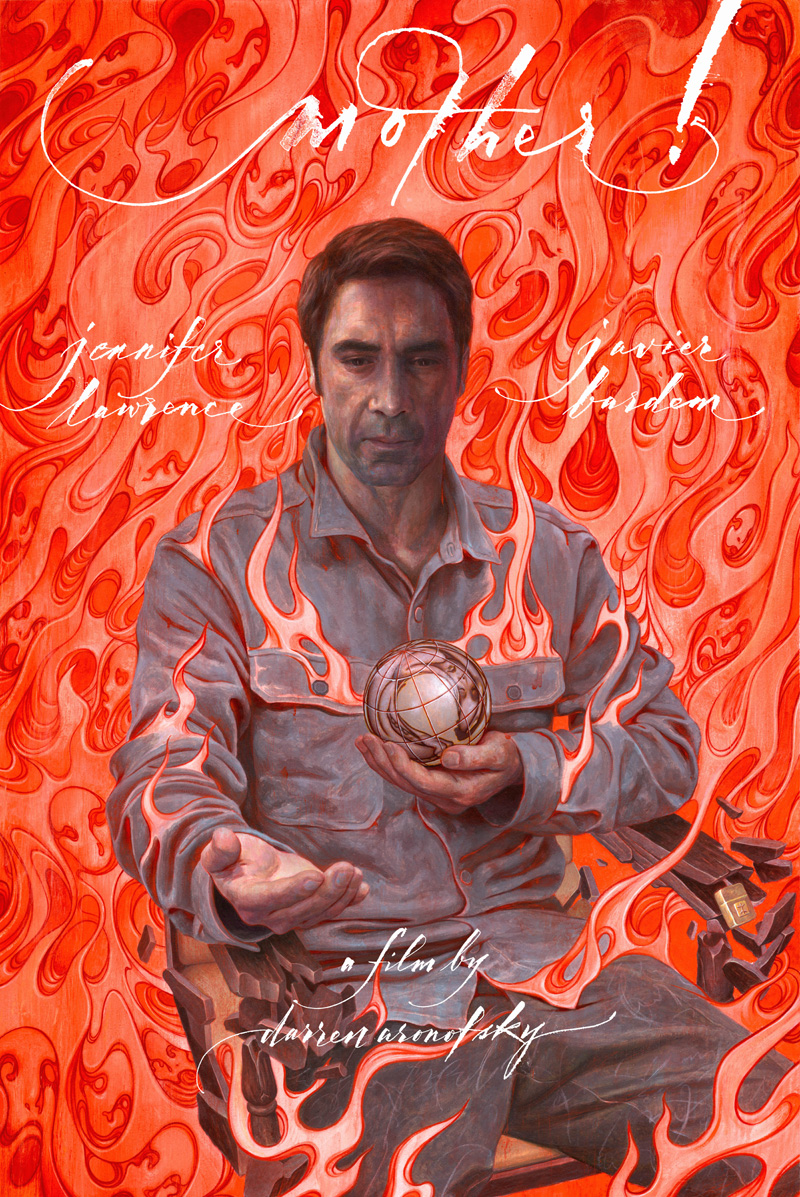 Madre! - Il poster con Javier Bardem