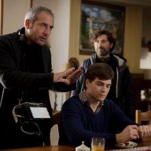 Nato a Casal di Principe: il regista Bruno Oliviero e Alessio Lapice sul set