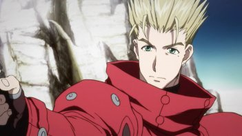 Trigun: Vash in una scena dell'anime