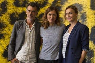 Amori che non sanno stare al mondo: la regista Francesca Comencini con thomas Trabacchi e Lucia Mascino a Locarno