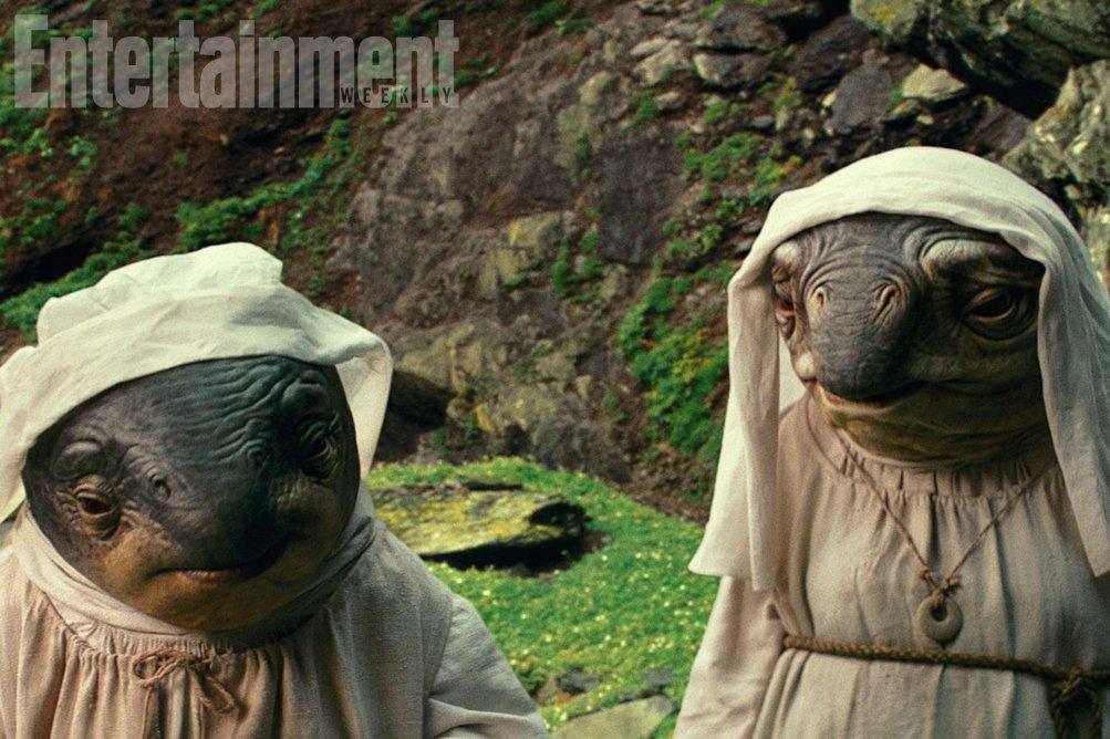 Star Wars: Gli Ultimi Jedi - Una foto delle creature chiamate The Caretakers
