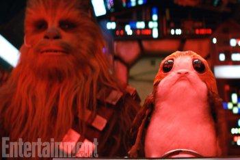 Star Wars: Gli ultimi Jedi, Chewbacca e un Porg