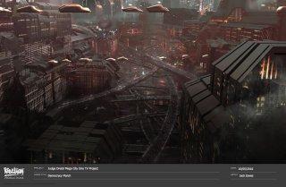Judge Dredd: Mega City One, un concept art del film