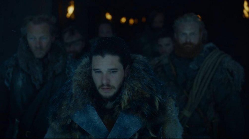Il trono di spade: Jon guida i suoi uomini in una scena dell'episodio Forte Orientale