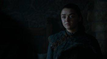 Il trono di spade: Maisie Williams in una scena dell'episodio Forte Orientale
