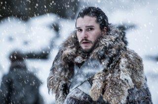 Il Trono di Spade: Jon Snow in una foto dell'episodio Oltre la Barriera