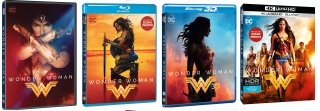 Le cover home video di Wonder Woman