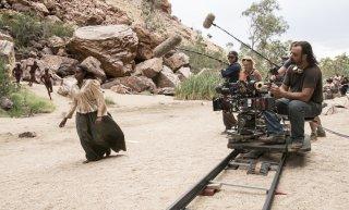 Sweet Country: il regista Warwick Thornton al lavoro sul set