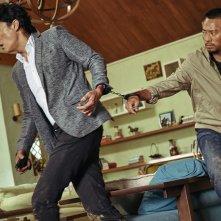 Manhunt: un momento del film di John Woo