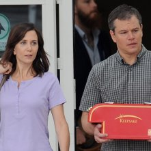 Downsizing: Matt Damon e Kristen Wiig in un momento del film