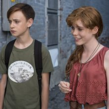 It: Jaeden Lieberher e Beverly Marsh in una foto del film