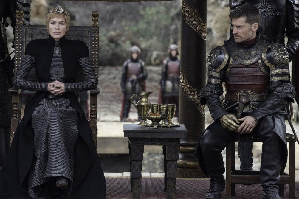 Il trono di spade: i gemelli Lannister in una scena del finale della settima stagione