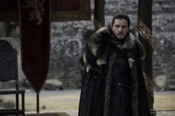 Il trono di spade: Kit Harington in una scena del finale della settima stagione