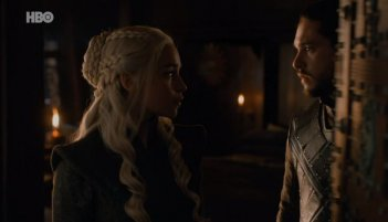 Il trono di spade: Dany e Jon in The Dragon and the Wolf