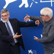 Venezia 2017: John Landis e Ricky Tognazzi al photocall delle giurie