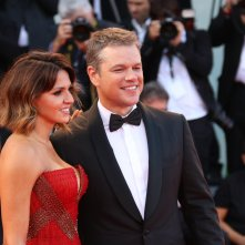 Venezia 2017: Matt Damon sorridente sul red carpet inaugurale
