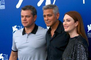 Venezia 2017: George Clooney, Julianne Moore e Matt Damon al photocall di Suburbicon