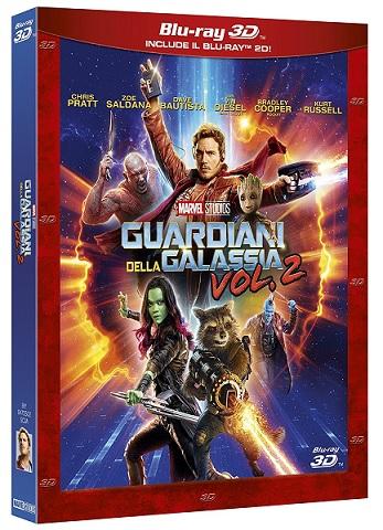 La cover del blu-ray di Guardiani della Galassia vol. 2