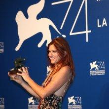 Venezia 2017: Susanna Nicchiarelli al photocall dei premiati