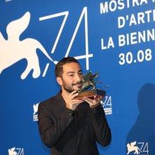 Venezia 2017: Xavier Legrand al photocall dei premiati