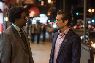 Roman J. Israel, Esq.: Denzel Washington e Colin Farrell in una scena del film