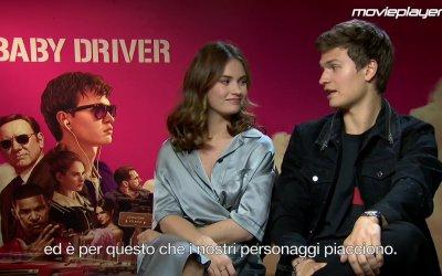 Baby Driver: videointervista a Ansel Elgort e Lily James