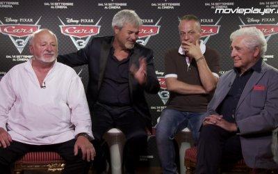 Cars 3: video intervista a Pino Insegno, Marco Messeri, Ugo Pagliai e Marco Della Noce.