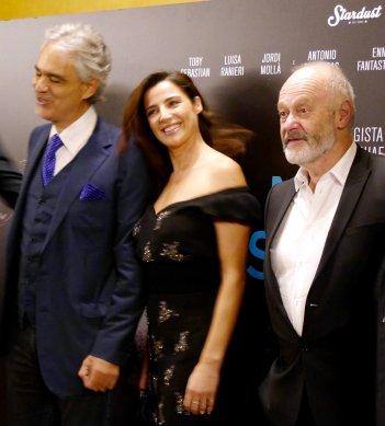 La Musica del Silenzio, Andrea Bocelli, Luisa Ranieri e il regista Michael Radford a Firenze