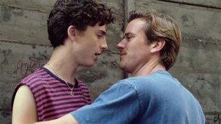 Chiamami con il tuo nome: Armie Hammer e Timothee Chalamet in una scena del film