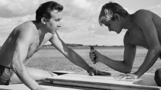 Il coltello nell'acqua: una scena del film