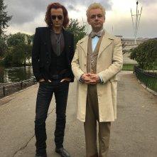 Good Omens: una prima immagine di David Tennant e Michael Sheen