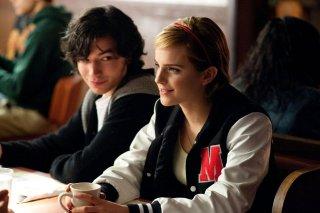 Noi siamo infinito: Ezra Miller ed Emma Watson in un'immagine tratta dal film