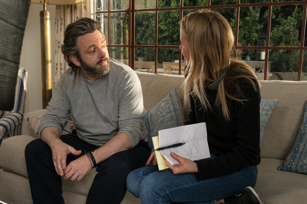 40 sono i nuovi 20: Michael Sheen e la regista Hallie Meyers-Shyer sul set del film