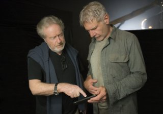 Blade Runner 2049: Ridley Scott e Harrison Ford sul set