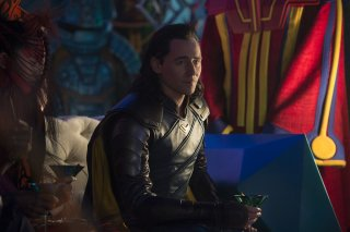 Thor: Ragnarok - Tom Hiddleston in una foto del film