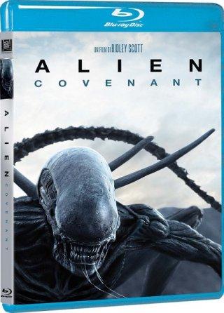 La cover del blu-ray di Alien: Covenant