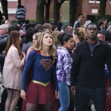 Supergirl: Melissa Benoist e David Harewood in Girl of Steel