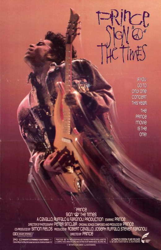 Sign O The Times Prince Movie Poster 1987 1020195938