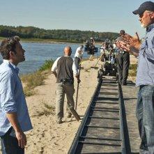 Ben Affleck e David Fincher sul set di L'amore bugiardo - Gone Girl