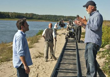 Ben Affleck e David Fincher sul set di L'amore bugiardo - Gone Girl