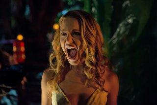 Auguri per la tua morte: Jessica Rothe urla in una scena del film