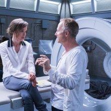 Flatliners - Linea mortale: Ellen Page e il regista Niels Arden Oplev sul set del film