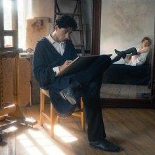 Egon Schiele - Death and the Maiden: Noah Saavedra e Valerie Pachner in un momento del film