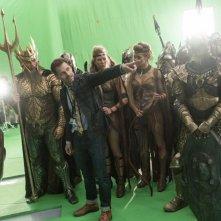 Justice League: Zack Snyder sul set del film