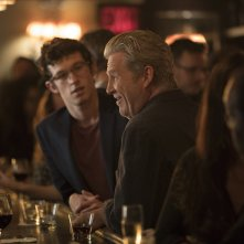 The Only Living Boy in New York: Jeff Bridges e Callum Turner in una scena del film