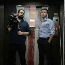 In un giorno la fine: il regista Daniele Misischia e Alessandro Roja sul set del film