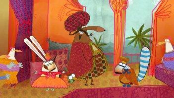 Pipì, Pupù e Rosmarina in Il mistero delle note rapite: un'immagine del film d'animazione