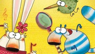Pipì, Pupù e Rosmarina in Il mistero delle note rapite: un momento del film animato
