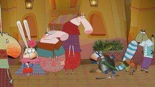 Pipì, Pupù e Rosmarina in Il mistero delle note rapite: un'immagine tratta dal film d'animazione